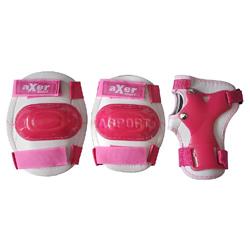 Ochraniacze dzieci�ce na nadgarstki, �okcie, kolana LITTLE PINK Axer