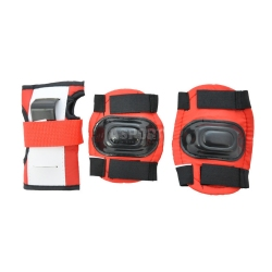 Ochraniacze dziecięce na nadgarstki, łokcie, kolana RED Axer