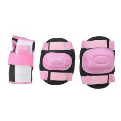 Ochraniacze dzieci�ce na nadgarstki, �okcie, kolana PINK Axer