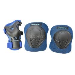 Ochraniacze dzieci�ce na nadgarstki, �okcie, kolana JUNIOR BLUE Axer