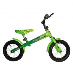 """Rowerek biegowy, dzieci�cy, stalowa rama, ko�a 12"""" SKYRIDER GREEN"""