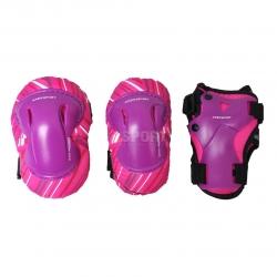 Ochraniacze dzieci�ce na nadgarstki, �okcie, kolana r�owe Axer