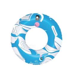 Dmuchane koło plażowe DELFIN 76 cm niebiesko-białe