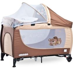 Łóżeczko turystyczne, składane, bujane 0-15kg GRANDE 2016 Caretero