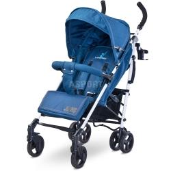 W�zek dzieci�cy, spacerowy, amortyzowany, od 6 miesi�cy JEANS niebieski Caretero