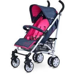 Wózek dziecięcy, spacerowy, amortyzowany, od 6 miesięcy MOBY fioletowy Caretero