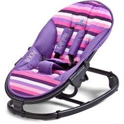 Leżaczek dziecięcy, niemowlęcy do 9 kg BOOM fioletowy Caretero