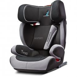 Fotelik samochodowy, dziecięcy 15-36 kg HUGGI ISOFIX czarny Caretero