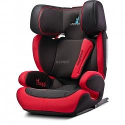 Fotelik samochodowy, dziecięcy 15-36 kg HUGGI ISOFIX czerwony Caretero