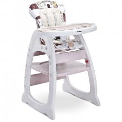Krzesełko do karmienia 2w1, krzesełko+stolik HOMEE beżowe Caretero