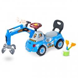 Jeździk / pchacz z chwytakiem + zestaw do zabawy w piaskownicy LIFT Toyz