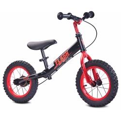 Rowerek dziecięcy, biegowy, metalowy 3-6 lat FLASH black-red Toyz