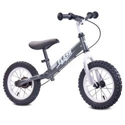 Rowerek dziecięcy, biegowy, metalowy 3-6 lat FLASH grey Toyz