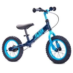 Rowerek dziecięcy, biegowy, metalowy 3-6 lat FLASH navy Toyz