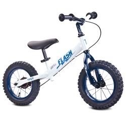 Rowerek dziecięcy, biegowy, metalowy 3-6 lat FLASH white Toyz