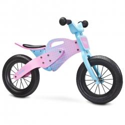 Rowerek biegowy, dziecięcy, drewniany, 3-6 lat ENDURO 2018 PINK Toyz