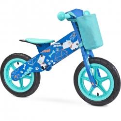 Rowerek biegowy, dziecięcy, drewniany, 3-6 lat ZAP BLUE Toyz