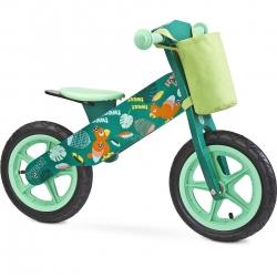 Rowerek biegowy, dziecięcy, drewniany, 3-6 lat ZAP GREEN Toyz
