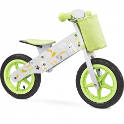 Rowerek biegowy, dziecięcy, drewniany, 3-6 lat ZAP GREY Toyz