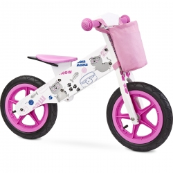 Rowerek biegowy, dziecięcy, drewniany, 3-6 lat ZAP PINK Toyz