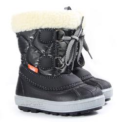 Buty zimowe, śniegowce dziecięce FURRY czarne Demar