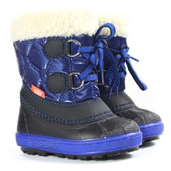 Buty zimowe, śniegowce dziecięce FURRY granatowe Demar