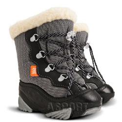 Buty zimowe, śniegowce dziecięce SNOW MAR czarne Demar