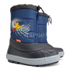 Buty zimowe, �niegowce dzieci�ce X-SNOW granatowe Demar