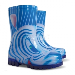 Kalosze dziecięce TWISTER PRINT zebra niebieska Demar
