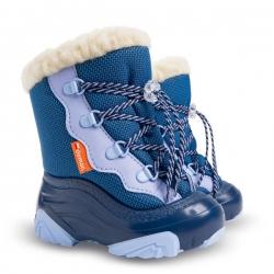 Buty zimowe, śniegowce dziecięce SNOW MAR niebieskie Demar