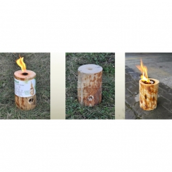�wieca ogrodowa, drewniana, antykomarowa, wosk cytrynowy EKO-OGNISKO 1szt.