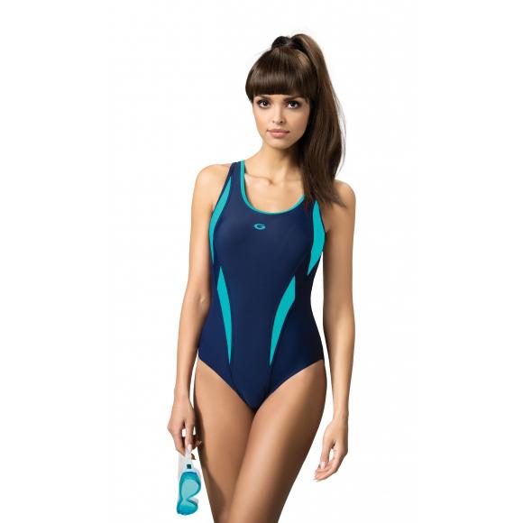 AQUA Gwinner Badeanzug mit Bein Damen Schwimmanzug einteiliger 115fc53daf