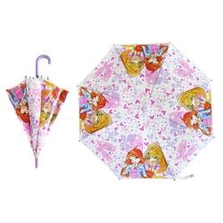Parasol dziecięcy, manualny 70cm WINX