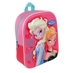 Plecak dziecięcy, dla dziewczynki, przedszkolny, wzór 3D FROZEN - KRAINA LODU