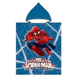 Ręcznik poncho, z kapturem, 100% bawełna 50x115 cm SPIDER-MAN