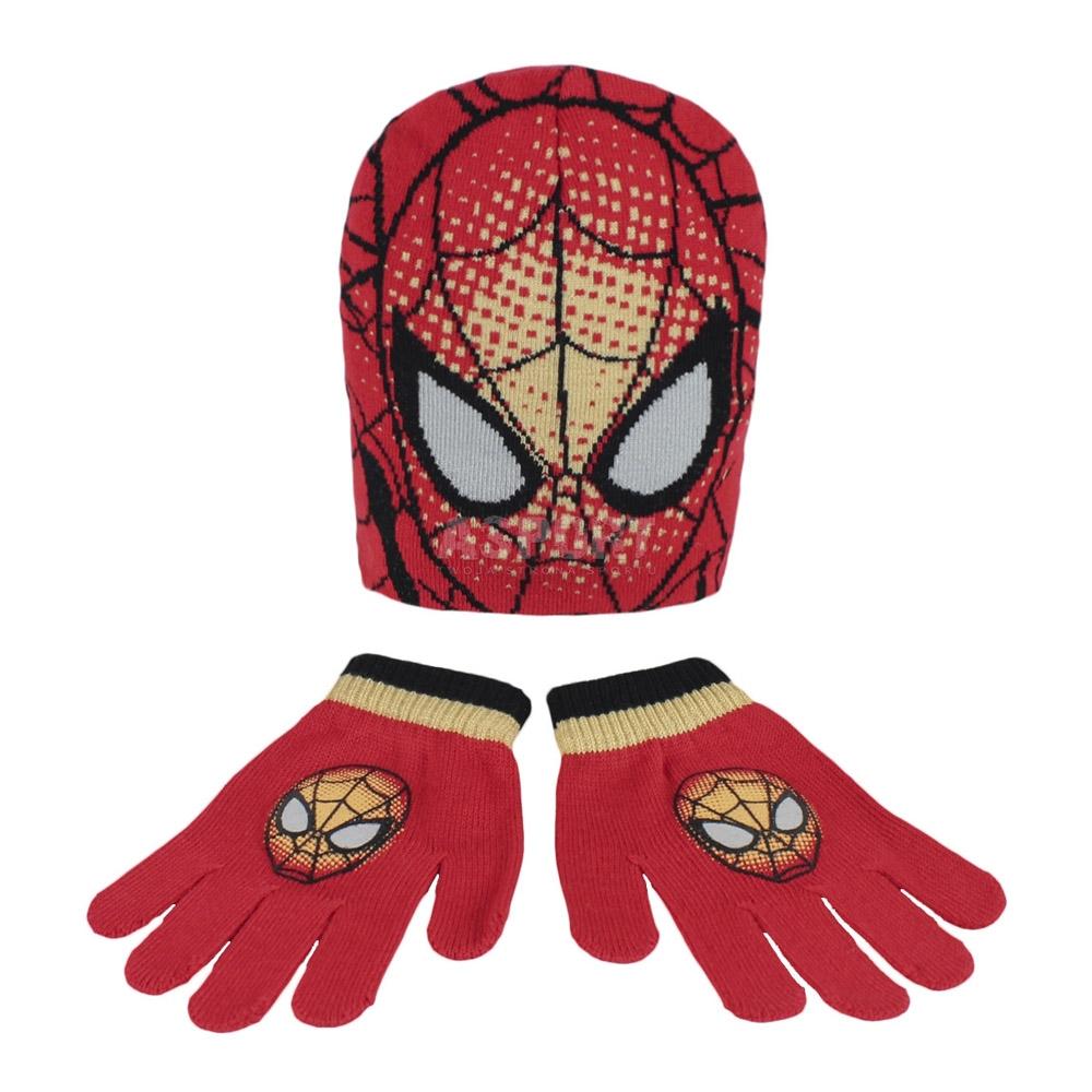 Komplet dziecięcy: czapka + rękawiczki Spider-Man