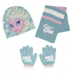 Komplet dziecięcy: czapka + rękawiczki + szalik FROZEN