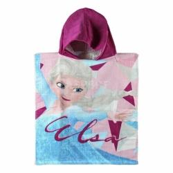 Ręcznik poncho, z kapturem, 100% bawełna 50x115cm FROZEN