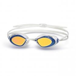 Okulary pływackie startowe, lustrzane STEALTH MIRROR biało-niebieskie Head