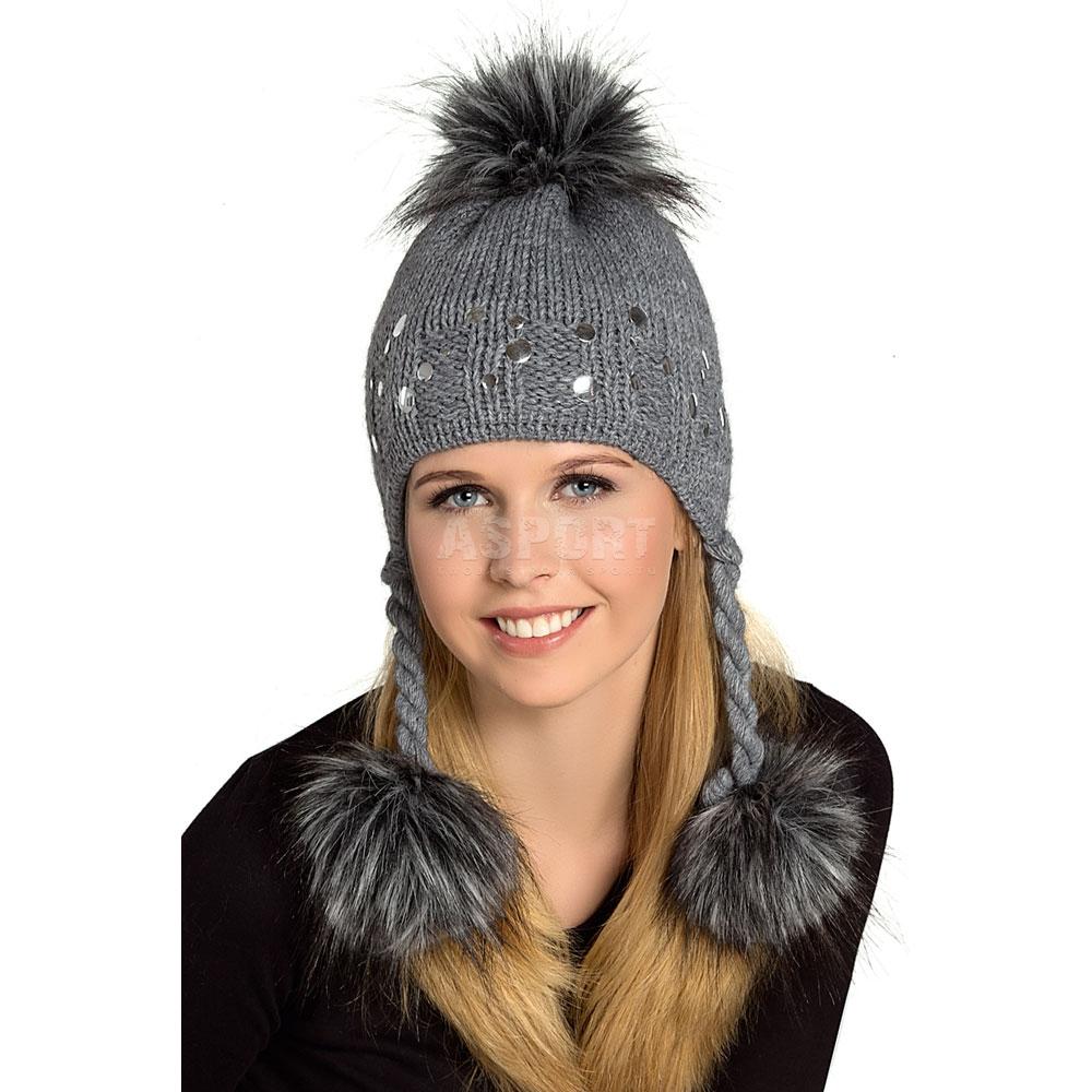 Czapka damska, młodzieżowa, polarowa podszewka HAGEN 4kolory Loman