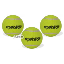Piłki do tenisa ziemnego 3 sztuki Meteor