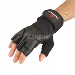 Rękawiczki treningowe, kulturystyczne, skóra naturalna 30% GRIP PRO Meteor