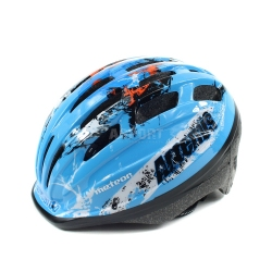 Kask dzieci�cy, ochronny, rowerowy, na rolki HB6-2 niebieski Meteor