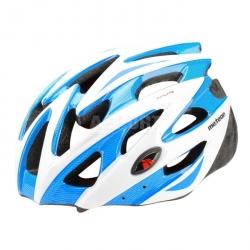 Kask rowerowy, szosowy, na rolki MV29 blue/white Meteor