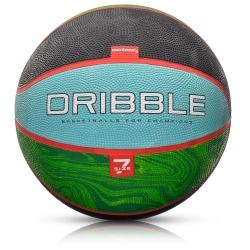 Piłka koszowa Dribble rozmiar 7 niebiesko-zielona Meteor