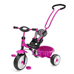 Rowerek dzieci�cy, z r�czk�, pasami bezpiecze�stwa BOBY NEW PINK