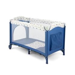 Łóżeczko, kojec, dziecięce, turystyczne MIRAGE BLUE WHITE Milly Mally
