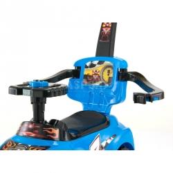 Jeździk, pchacz dziecięcy, pojazd 3w1 KID niebieski Milly Mally