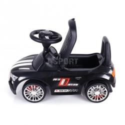Jeździk, pchacz dziecięcy, pojazd RACER czarny Milly Mally