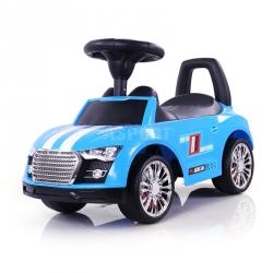 Jeździk, pchacz dziecięcy, pojazd RACER niebieski Milly Mally